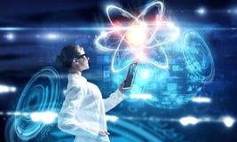 Biochemie i technologie Mieszani środki fotografia stock
