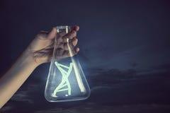Biochemie lub genetyczny badanie Mieszani środki zdjęcie royalty free