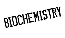 Biochemie rubberzegel royalty-vrije stock foto