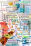Biochemiecollage lizenzfreies stockfoto