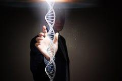 Biochemii eksploracja i nauka Mieszani środki zdjęcia stock