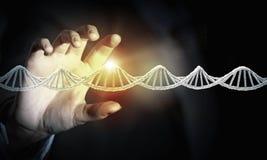 Biochemii eksploracja i nauka Mieszani środki zdjęcie stock