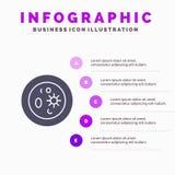 Biochemistry, Biology, Chemistry, Dish, Laboratory Solid Icon Infographics 5 Steps Presentation Background stock illustration