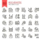 Biochemistry Elements. Thin Line and Pixel Perfect Icons Stock Image