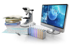 Biochemistry lab equipment Royalty Free Stock Images