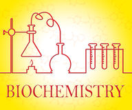 Biochemistry Research Represents Analysis Instruments And Assess. Biochemistry Research Showing Test Examination And Experiment Royalty Free Stock Photography