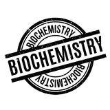 Biochemistry rubber stamp. Grunge design with dust scratches. Effects can be easily removed for a clean, crisp look. Color is easily changed Stock Photography