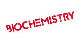 Biochemistry rubber stamp. Grunge design with dust scratches. Effects can be easily removed for a clean, crisp look. Color is easily changed Stock Images
