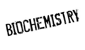 Biochemistry rubber stamp. Grunge design with dust scratches. Effects can be easily removed for a clean, crisp look. Color is easily changed Royalty Free Stock Photo