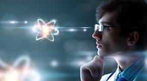 Biochemistry and technologies. Mixed media Stock Photography