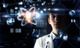 Biochemistry and technologies. Mixed media Royalty Free Stock Photography