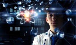 Biochemistry and technologies. Mixed media Stock Photo