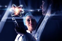 Biochemistry and technologies. Mixed media Royalty Free Stock Images