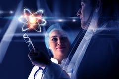 Biochemistry and technologies. Mixed media Stock Photos
