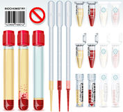 Biochemistry Test Complete Set. Detailed illustration of a Biochemistry Test Complete Set Royalty Free Stock Photo