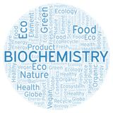 Biochemistry word cloud. Wordcloud made with text only royalty free illustration