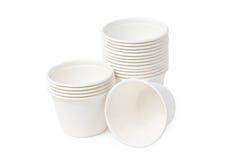 Biodegradable Bowls Stack. Stock Photos