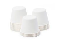 Biodegradable Bowls Stack. Stock Image