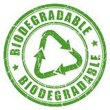 Biodegradable green rubber stamp Stock Image
