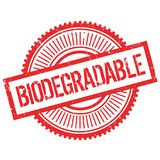 Biodegradable stamp rubber grunge Royalty Free Stock Image