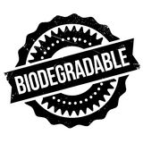 Biodegradable stamp rubber grunge Royalty Free Stock Photo
