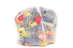 Biodegradable waste in a biodegradable bag Royalty Free Stock Photography