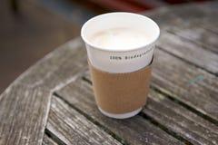 Biodegradierbares wegwerfbares Cup Lizenzfreie Stockfotografie