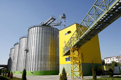Biodiesel factory. Oil tanks of a biodiesel factory Royalty Free Stock Image