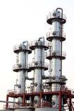 Biodieselproduktionutrustning i en fabrik Arkivbilder