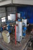 Biodieselproduktionutrustning i en fabrik Royaltyfria Foton