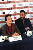Biodirektör Roberta Torre, Italien, på den 40th MoskvaInternationalfilmfestivalen Arkivfoton