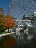 Biodome from Saint Helen Island. Montreal, Canada in autumn time stock photo