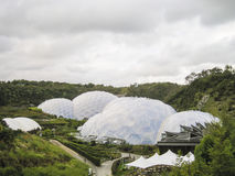 Biodomes in a Valley Royalty Free Stock Photos