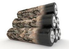Bioenergía y biomasa Imagen de archivo libre de regalías