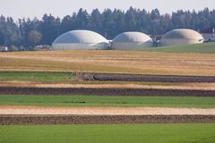 Bioenergy. Facility for bio energy production stock image