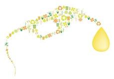 Bioenergy pictogrammen Stock Foto