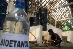 BIOETANOLO DI ALTERNATIVA DEL COMBUSTIBILE DELL'INDONESIA Fotografie Stock Libere da Diritti