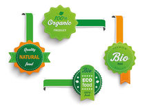 4 Biofood Labels Marker. Collection of 4 bio labels Royalty Free Stock Photo
