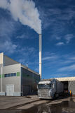 Biofuel boiler house Royalty Free Stock Images