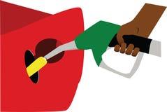 Biofuel - corn. Illustration of fictional biofuel pump, disposing corn instead of regular gasoline Stock Photos