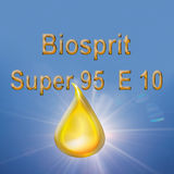 Biofuel drop with text blue background Stock Photography