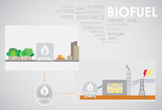 Biofuel energy. Generate to electricity Royalty Free Stock Photography