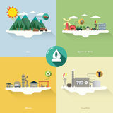 Biofuel energy. With four picture Royalty Free Stock Photo