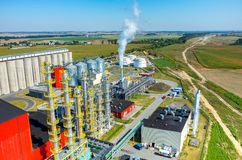 Biofuel factory aerial view Royalty Free Stock Image