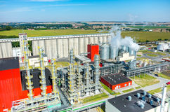 Biofuel factory aerial view Royalty Free Stock Photography