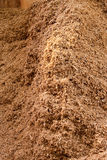 Biofuel Pile of Environmentally Friendly Biomass. Biofuel Pile of Chopped Environmentally Friendly Biomass Material Royalty Free Stock Photography