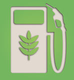 Biofuel symbol. Illustration of paper cut out biofuel pump Royalty Free Stock Photos
