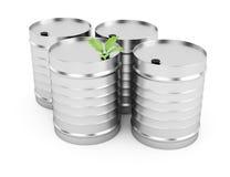 Biofuel tanks. On white background. 3d render Stock Image