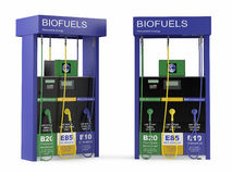 Biofuels station isolated Stock Photography