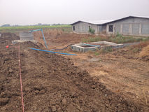 Biogas bedeckte Lagune Stockfoto